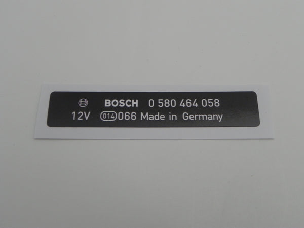 (New) 964 Bosch Electric Fuel Pump Decal - 1989-94