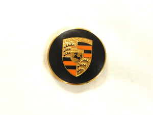(New) 356/911/912 Gold Enamel Hubcap Crest with Orange Bars - 1950-73