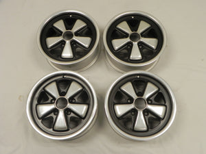 (Refinished) 911/912 Complete Set of Late 6j x 15 Forged Alloy Flat Six Fuchs Wheel - 1965-89