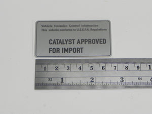 (New) 911/930/944 Catalyst Approved for Import Decal