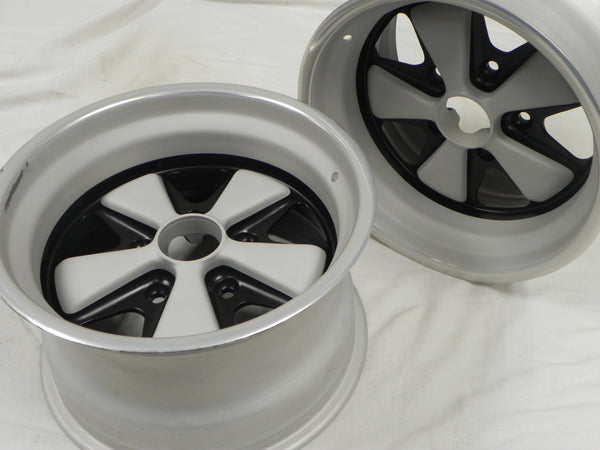 (Refinished) 911 RSR Pair of Front 9jx15 Fuchs Wheels