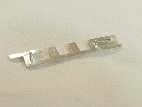 (New) 911 T Silver Glove Box Lid Emblem - 1969-73