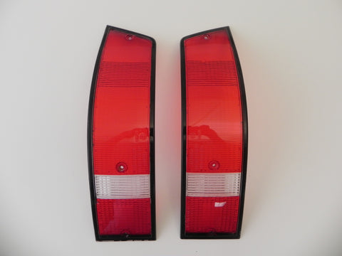 (Used) 911 Pair of Bosch USA Black Trim Tail Light Lenses - 1973-89
