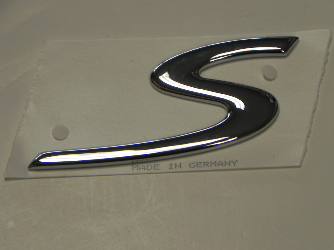 "(New) Rear Lid Boxster ""S"" Emblem - 1997-2004"