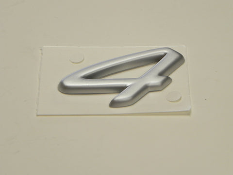 "(New) Silver Carrera S ""4"" Emblem - 1995-98"