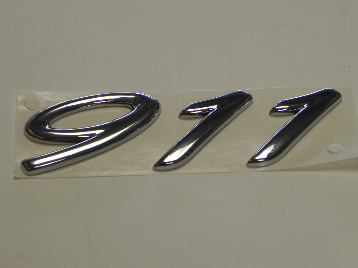 "(New) Chrome ""911"" Emblem - 1999-2005"