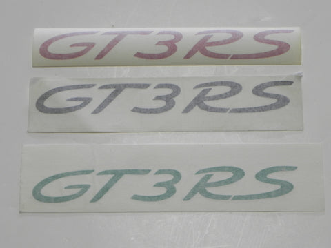 "996/997 ""GT3RS"" Decal - Red, Black or Green"