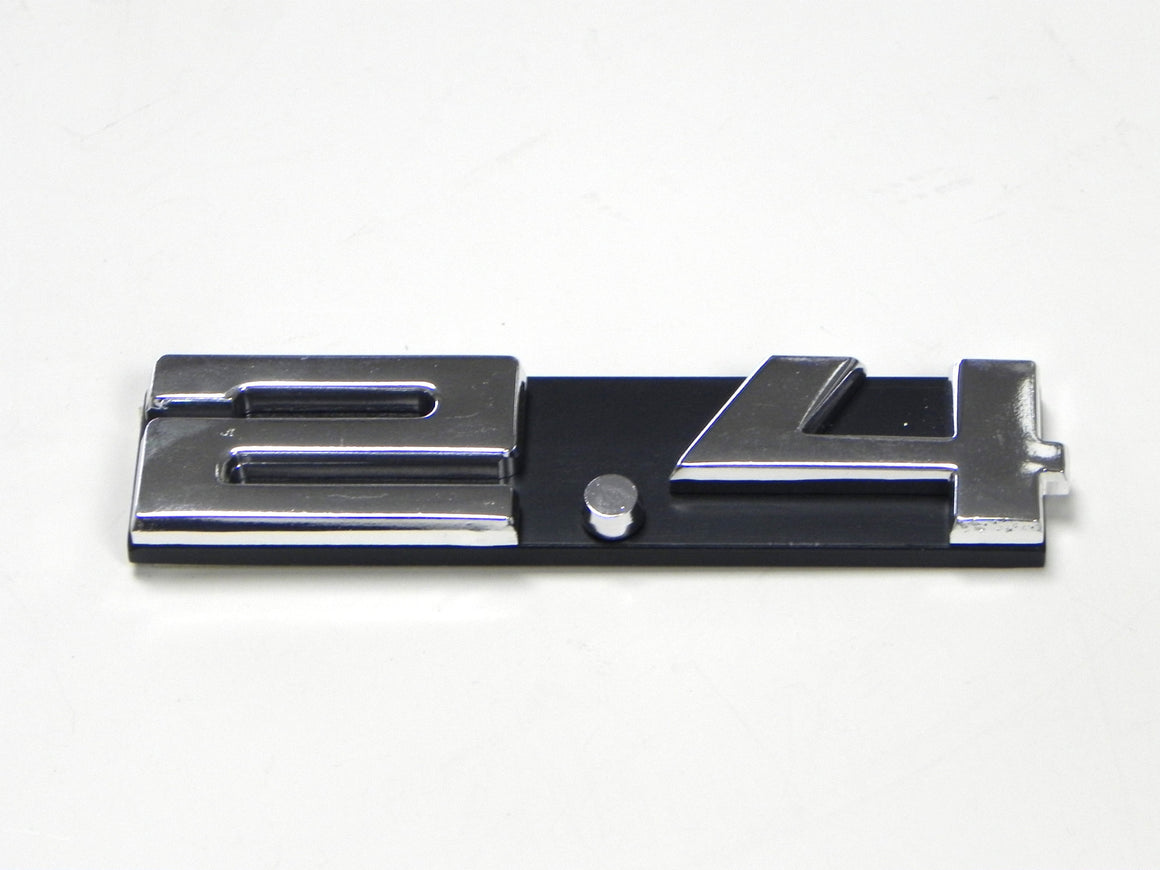 "(New) 911 Silver ""2.4"" Engine Grill Emblem - 1972-73"