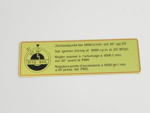 (New) 911S-911L Timing Decal with Red Border - 1967-68