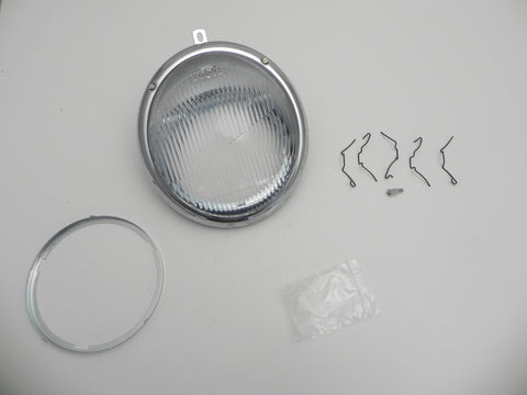 (New) 356 Asymmetrical Glass Headlight Assembly - 1950-65
