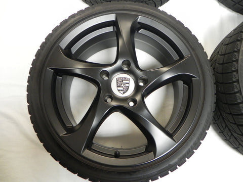 (Used) Set of Four 5 Spoke Black Rims With Tires