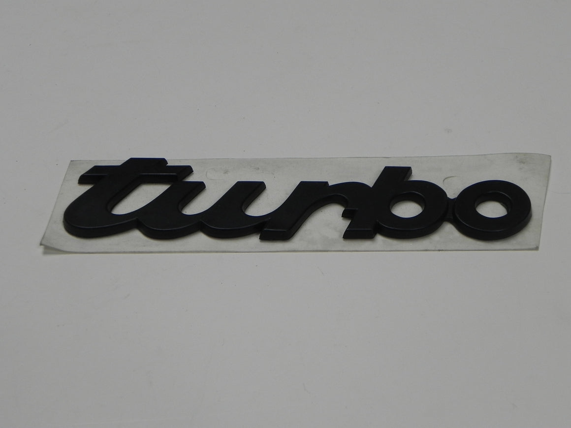 "(New) Black Script Emblem: ""Turbo"" - 1987-94"