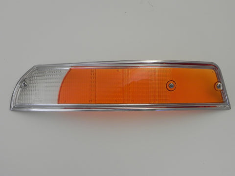 (New) 911/912 Porsche European Left Front Turn Signal Lens with Silver Trim - 1969-72