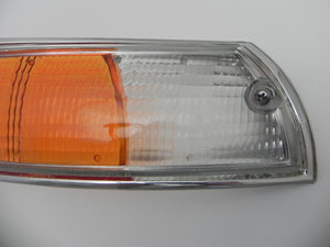 (New) 911/912 Porsche European Right Front Turn Signal Lens with Silver Trim - 1969-72