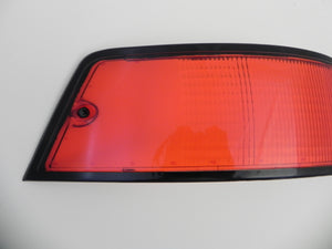 (New) 911 Porsche Left Side USA Tail Light Lens with Black Trim - 1973-89