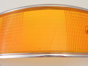 (New) Porsche European Left Tail Light Lens with Silver Trim - 1969-72
