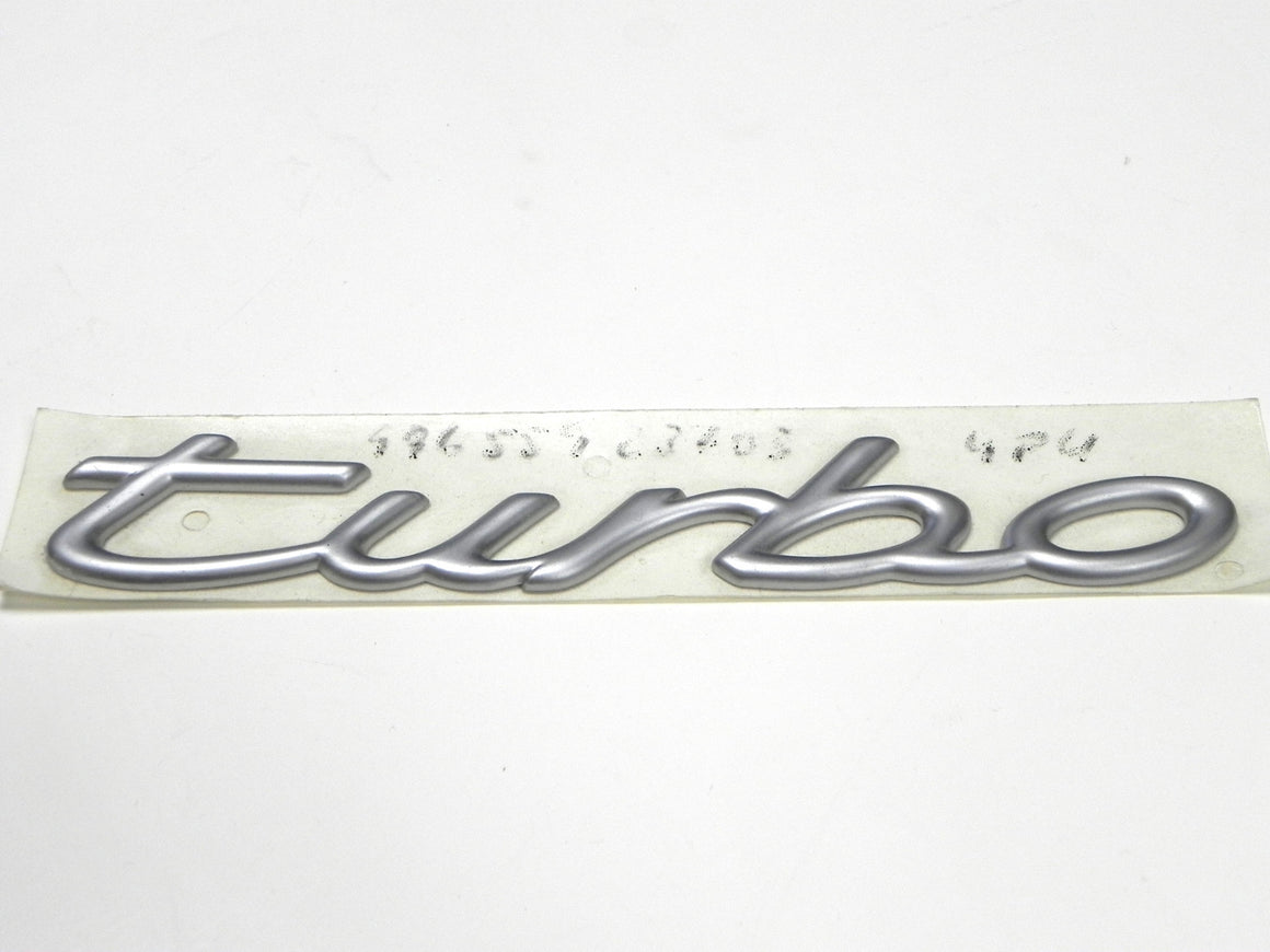 "(New) 996/997 Chrome ""Turbo"" Script Emblem - 1999-2012"