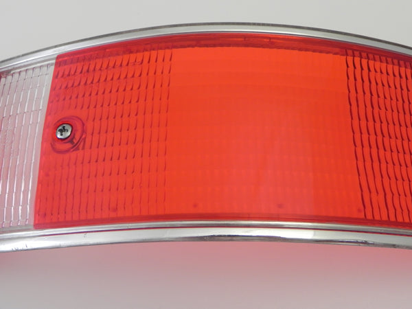 (New) 911/912 Right Side USA Tail Light Lens with Silver Trim - 1969-72