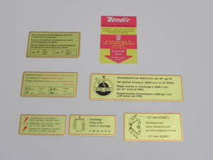 (New) Early 911S Red Bordered Engine Bay Decal Set - 1967