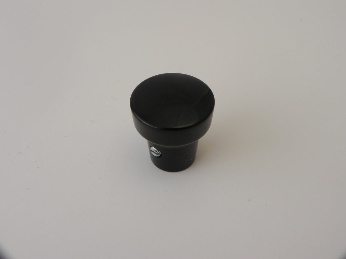 (New) 356 M3.5 Black Radio Knob - 1953-68