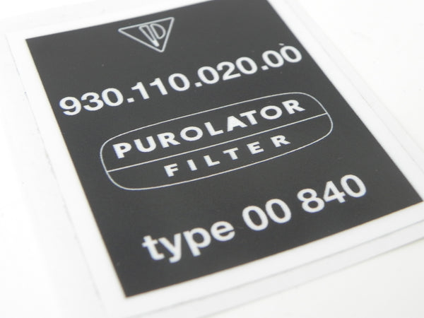 (New) 911 930 Turbo Purolator Decal - 1975-77