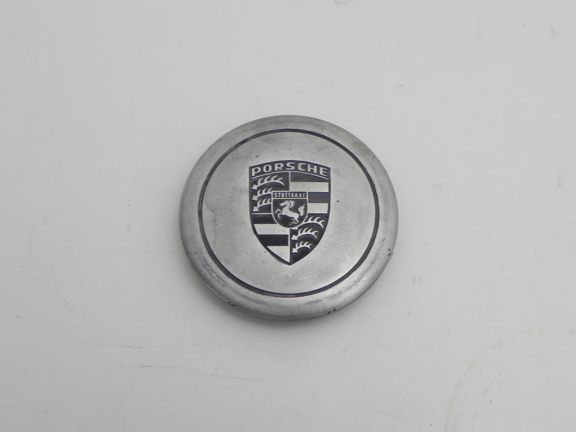 (Used) 911/912E/930/944 Silver Center Cap with Ring Clip - Fuchs Wheel - 1974-89