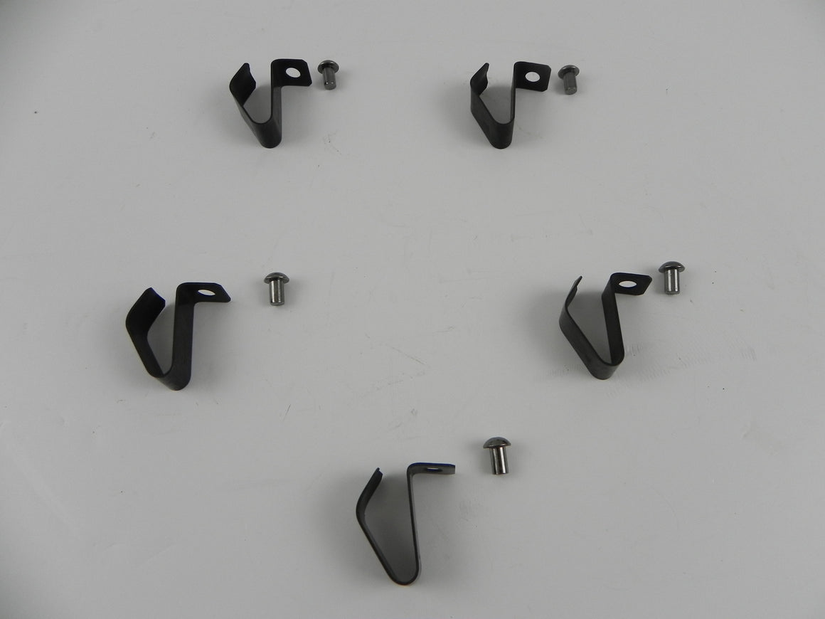 (New) Hubcap Metal Clip Set w/ Rivets