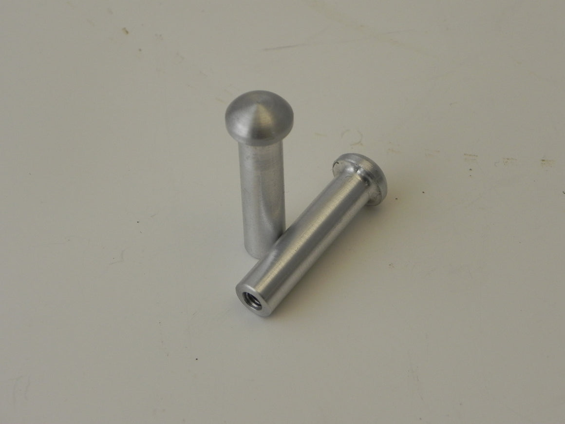 (New) 911/930 Late Pair of Aluminum Door Lock Knobs - 1977-89
