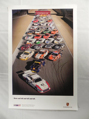 "(New) Rennsport Reunion IV Tell and Tell Poster 20""x 30"""