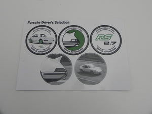 (New) 911 Carrera RS 2.7 Driver's Selection Decal Set - 1973