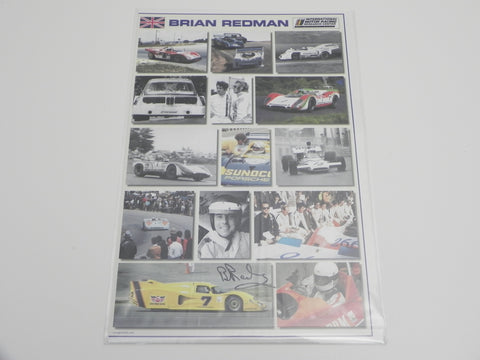 (New) Brian Redman Autographed Poster