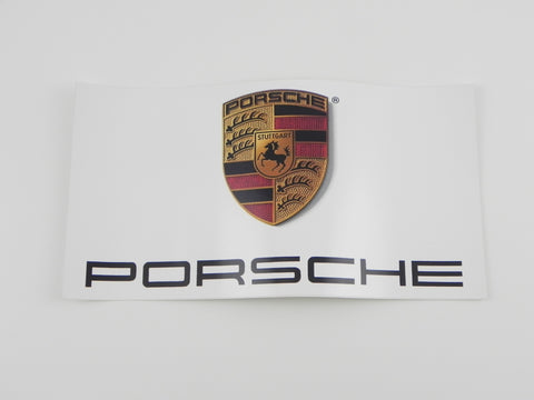 (New) Porsche Sticker 13'' x 7''