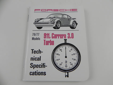 (New) 911 Technical Specifications Pocket Book - 1976-77