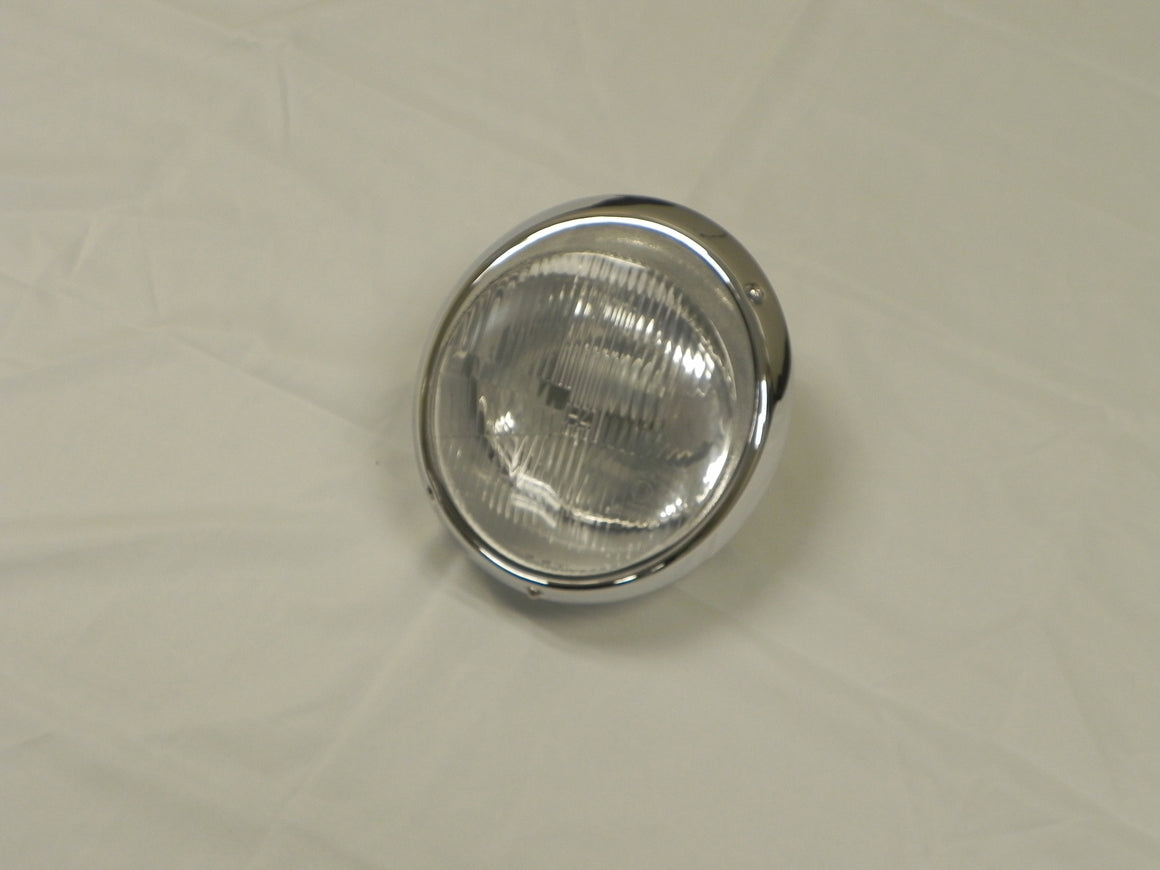 (New) 911 RHD H4 Headlight Assembly with Chrome Trim - 1968-86