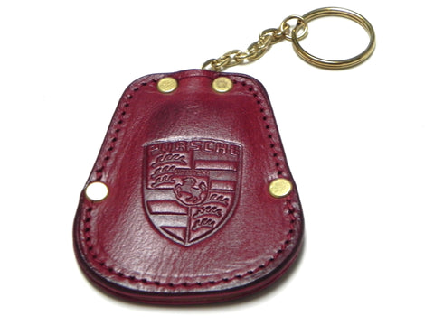 (New) 356 Maroon Calfskin Key Fob