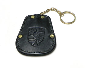 (New) 356 Green Calfskin Key Fob