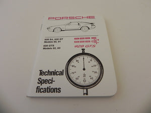 (New) 928 Technical Secification Booklet 1990-92