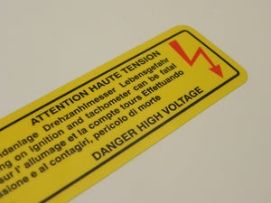 (New) 928/993 High Voltage Decal - 1978-98