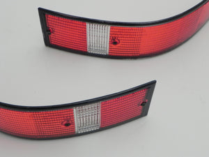 (Used) 911/912E/930 Pair of BOSCH USA Rear Taillight Lenses w/ Black Trim - 1973-89