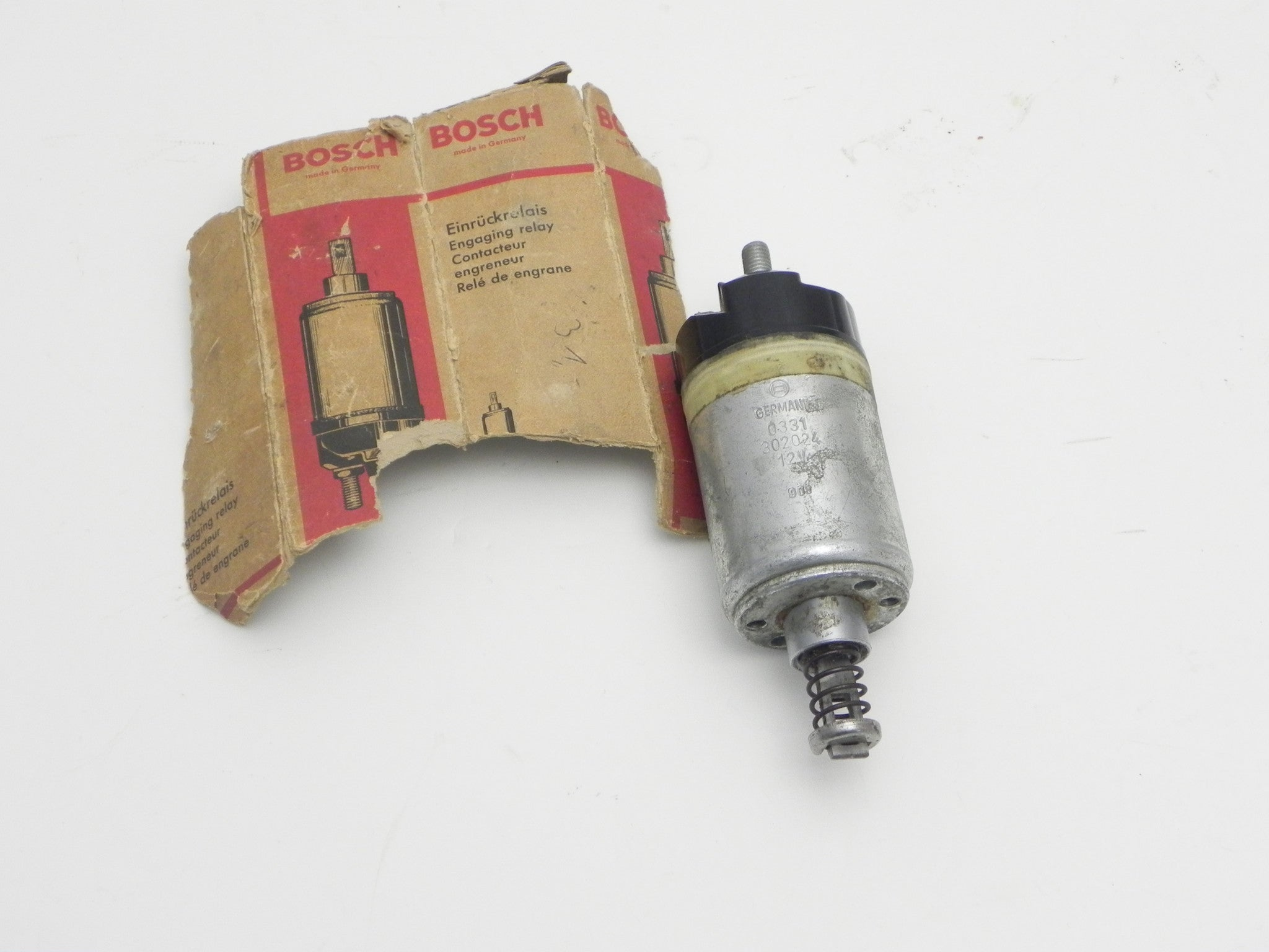 Porsche 911 912 930 Electrical Page 6 Aase Sales Parts 89 Carrera Fuse Box Diagram Nos Early Bosch Starter Solenoid 1967 69