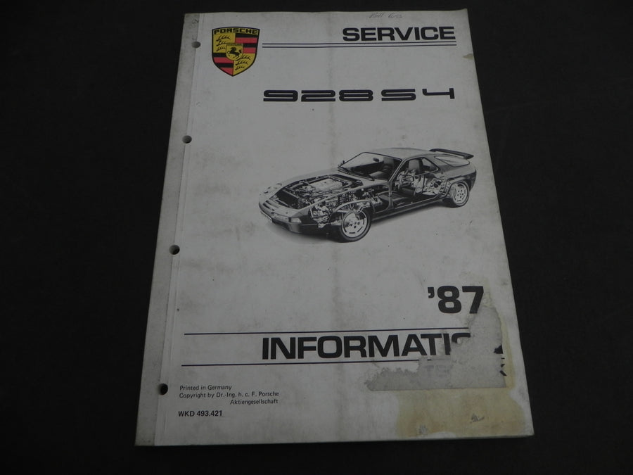 (Used) 928 S4 Service Information Manual 1978