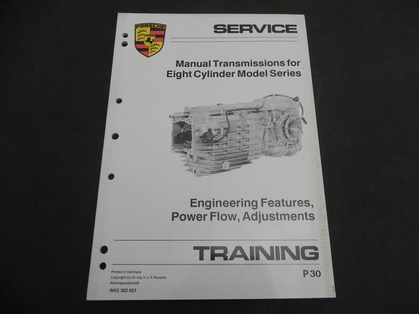 (Used) 928 Eight Cylinder Transmission Training Manual 1985-88
