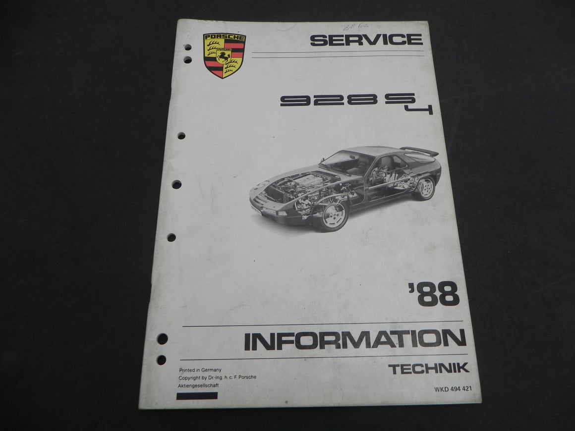 (Used) 88-928S-4 Service Information Guide