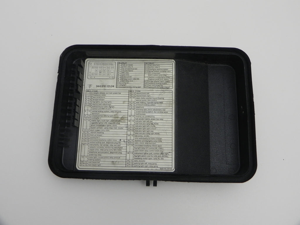 Porsche 944 Fuse Box For Sale Electrical Wiring Diagrams 1988 Used Cover 1982 91 Aase Sales Parts Center Mazda 626