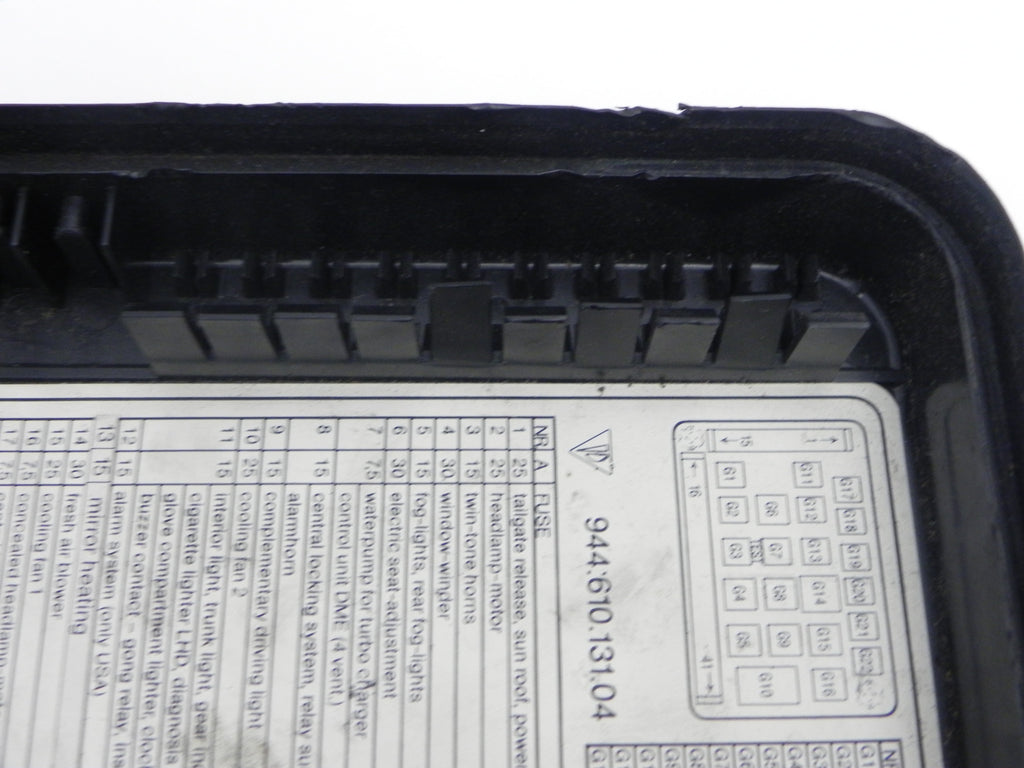 Porsche 944 Fuse Box Lid Trusted Schematics Diagram 84 For Sale Electrical Wiring Diagrams Glove