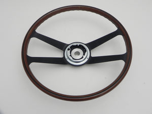 (New) 356/911/912 Wood and Aluminum 410mm VDM Steering Wheel - 1959-73