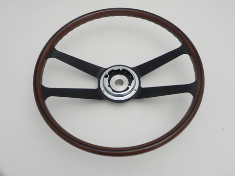 (New) 356/911/912 Wood and Aluminum 390mm VDM Steering Wheel - 1959-73