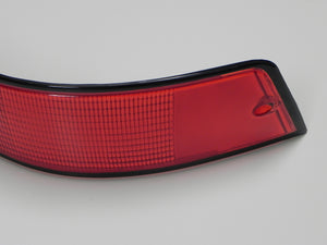 (New) 911/912E/930 Right Side USA Tail Light Lens with Black Trim - 1973-89