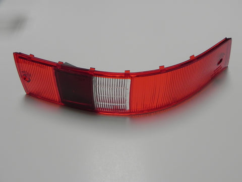 (New) 911/912 Right Side USA Red/White Tail Light Lens - 1965-68