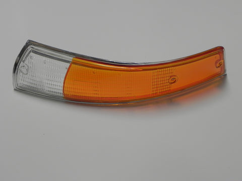 (Repro) 911/912 Left Front European Turn Signal Lens with Silver Trim - 1969-72